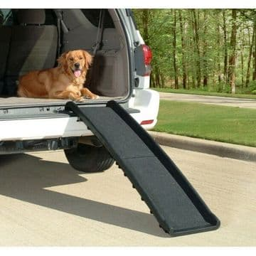 FOLDING PLASTIC LIGHTWEIGHT DOG PET RAMP holds dogs up to 90kgs (200lbs)
